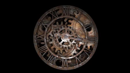 антиквариат : Time laps of an old watch. The hands of the clock spin quickly. Indicate the time 12:00.