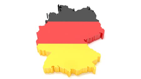 administracja : Traveling through Germany. Pave the way on the map. 3D illustration. Wideo