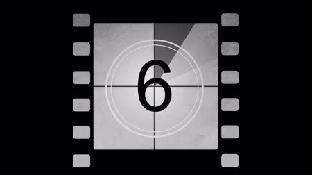 films : Film countdown Stockvideo
