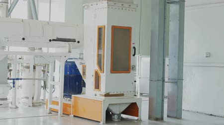 technological process : Modern automated grist mill for flour manufacturing