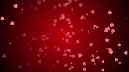 Hearts are continuously moving towards the screen.