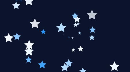 Small blue stars continuously shoot towards the screen. Wideo