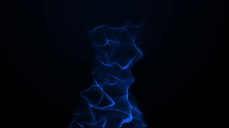 Blue flames slowly rise up in the middle. Wideo