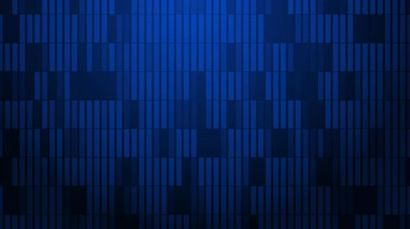 rendered : A pattern of rectangles slowly pulsate across the screen. Stock Footage