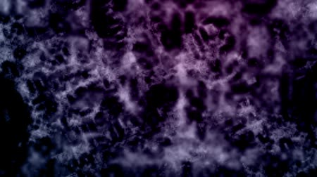 Ghostly purple energy waves flow around the screen Wideo