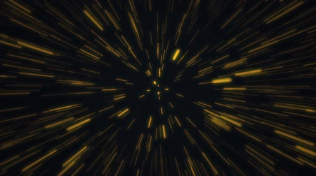 Warp speed lines continuously moves towards the screen. Looping Wideo