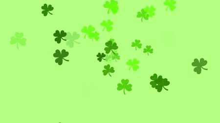Clovers continuously shoot towards the screen.