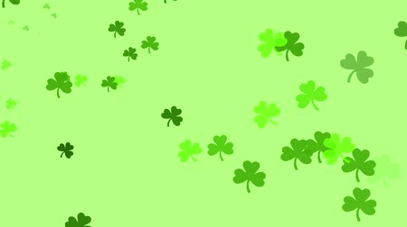 A bunch of clovers are drifting across the screen.