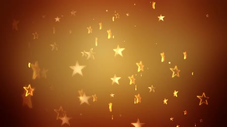 Gold stars continuously rise against a golden background