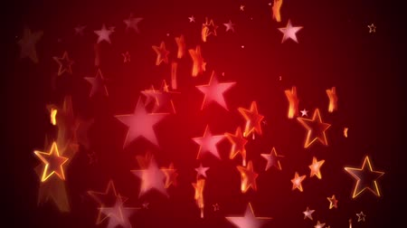 Gold stars continuously rise against a red background