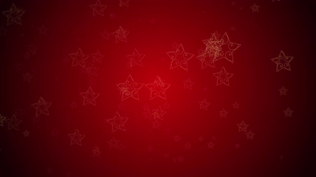 Stylish stars continuously fall against a red background
