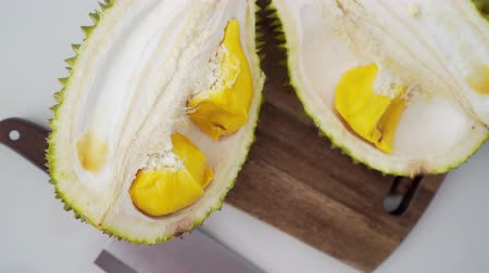 unpleasant smell : Malaysia famous fruits durian musang king, sweet golden creamy flesh.