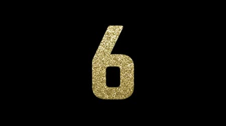 10 Second countdown with golden glitter numbers. Passing Time or New Years Eve concept. HD animation.
