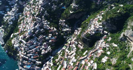 amalfitana : Beautiful flight over Positano at Amalfi Coast in southern Italy