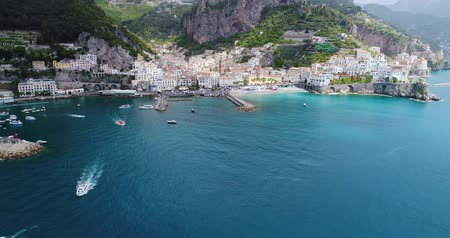 amalfitana : Beautiful flight over Amalfi in southern Italy