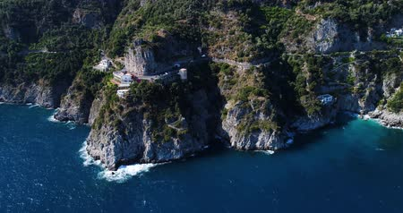 amalfitana : aerial view of beautiful amalfi coast in italy