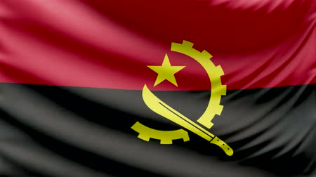 hymn : Realistic beautiful Angola flag looping Slow 4k resolution