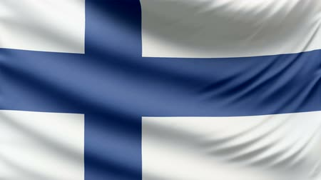 finlandês : Realistic beautiful Finland flag looping Slow 4k resolution