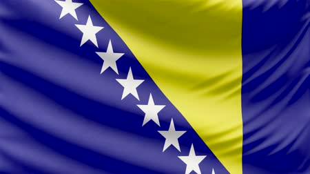 hymn : Realistic beautiful Bosnia and Herzegovina flag looping Slow 4k resolution
