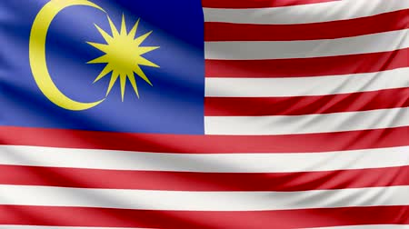 all european flags : Realistic beautiful Malaysia flag 4k