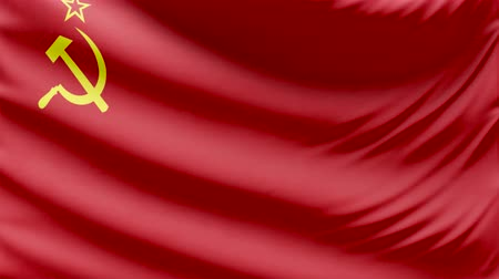 Realistic Beautiful Ussr Flag 4k Stock Footage Royalty Free Clip Hd Video Footage Footage 73459419