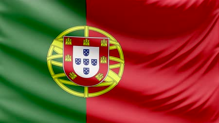 portugalsko : Realistic beautiful Portugal flag 4k