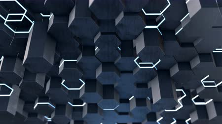 treillis : Forme hexagonale abstraite de low poly
