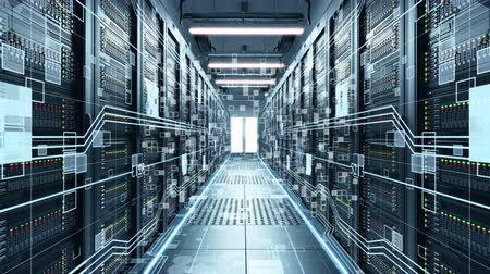nowoczesne technologie : IT engineering, rack servers in the modern data center.