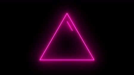 geometric : Abstract background with neon light, triangle.