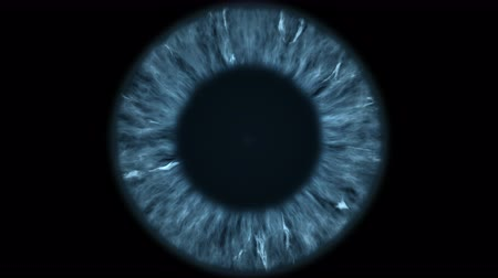 bulva oční : The blue eye is an extreme close-up of the iris and pupil, widening and tapering.