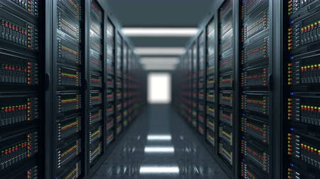 razzia : Servers close up. Modern data center.