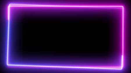 electric ray : Abstract neon frame, fluorescent light. Loop animation.
