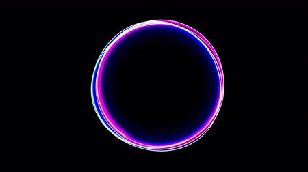 ultraviolet : Abstract neon circle , fluorescent light. Loop animation.