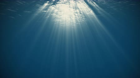 mikrohullámú : Rays of Sunlight Penetrate Clear Water.