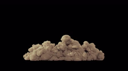 grenade : Smoke VFX overlay element. Sandstorm in the desert on a black background Stock Footage