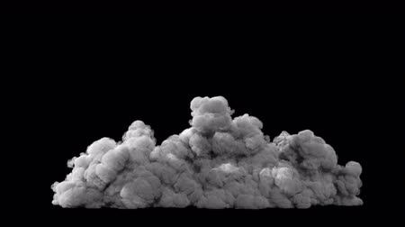grenade : Atmospheric puffs of smoke, VFX element. Smoke in slow motion on a black background. Sandstorm.