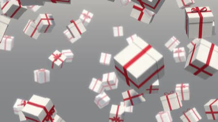 hediyeler : 3D loop-able animation of falling gifts