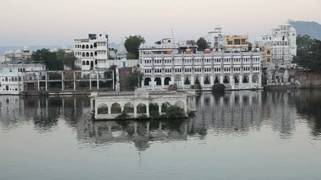 pichola : View at the Lake Pichola in Udaipur, Rajasthan State, India Stock Footage