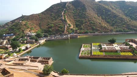 amer fort : View of Maota Lake at Amer Fort in Udaipur, Rajasthan, India