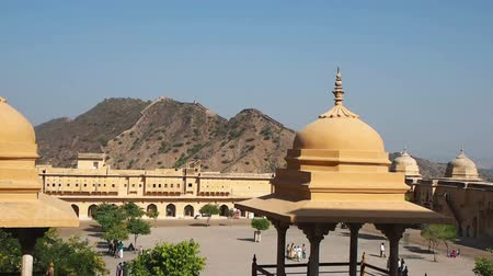 amer fort : View at Amber Fort in Jaipur, Rajasthan, India