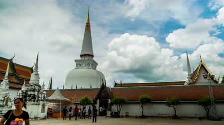 pagode : Time lapse of Wat Mahathat in Nakhon Si Thummarat province, Thailand Vídeos
