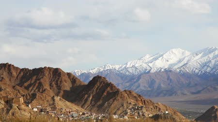 gompa : View of Namgyal Tso Monastery on the mountain and lanscape of Leh, Ladakh, India