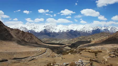 Himalayan mountain landscape and the valley in Ladakh, India