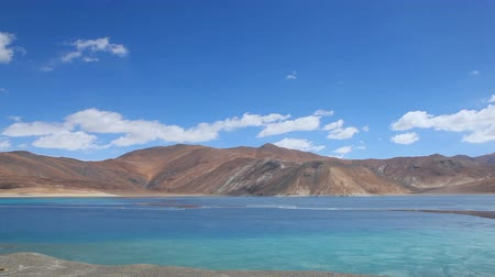 View of Pangong Lake in the winter, Ladakh, India