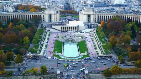 Aerial view of Paris in France