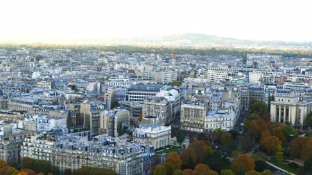 Aerial view of Paris Skyline in France