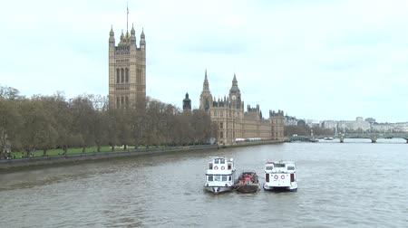 londyn : A shot of the Palace of Westminster from the West, featuring the Palace of Westminster.