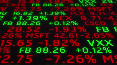 финансы : 4k Stock Market Board Ticker Moving Animation Seamless Loop.