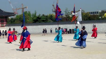 gyeongbokgung : Ceremony of Gate Guard Change near the Gyeongbokgung Palace in Seoul city, South Korea