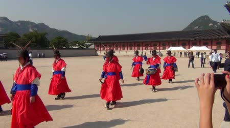 gyeongbok : Changing of the Royal Guard ceremony at the Gyeongbokgung Palace in Seoul city, South Korea